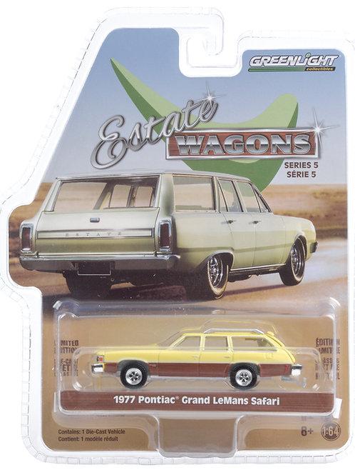 Greenlight Estate Wagons 5 1977 Pontiac Grand LeMans Safari Station Wagon