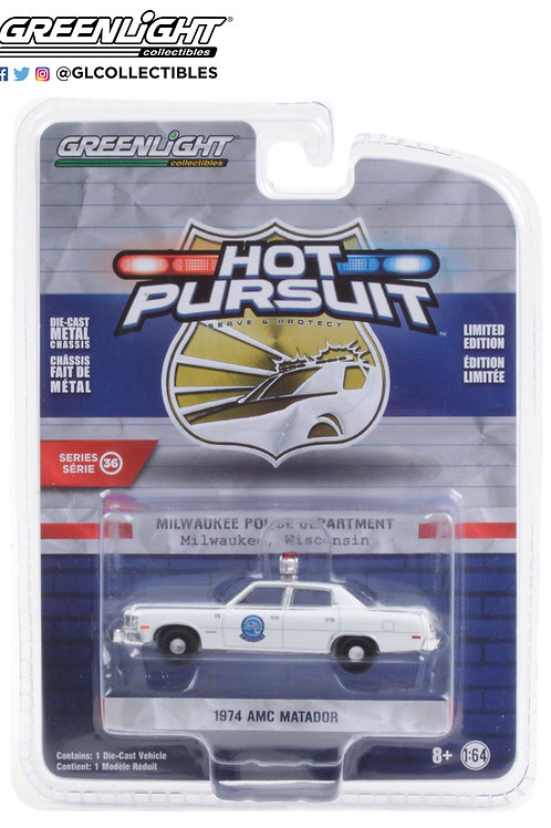 Greenlight Hot Pursuit 36 1974 AMC Matador Milwaukee, WI