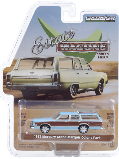 Greenlight Estate Wagons 5 1983 Mercury Grand Marquis Colony Park Station Wagon