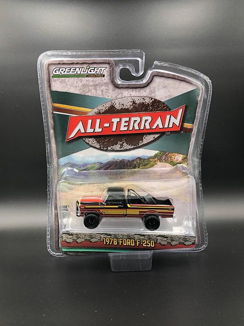 Greenlight All Terrain 10 1978 Ford F250 4x4 Pick Up Truck