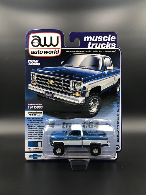 Auto World 1978 Chevy K10 Silverado Fleetside 4x4 Truck
