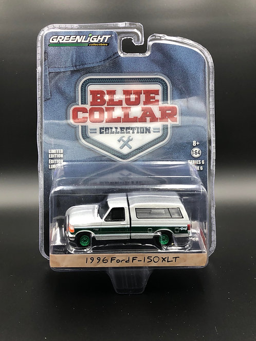 Greenlight Blue Collar Series 6 1996 Ford F150 XLT Pick Up Green Machine
