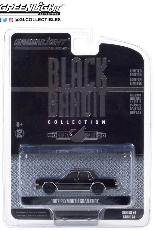 Greenlight Black Bandit 24 1987 Plymouth Gran Fury