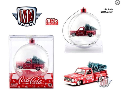 M2 MiJo Exclusive 1974 Chevy Stepside Coca-Cola Ornament