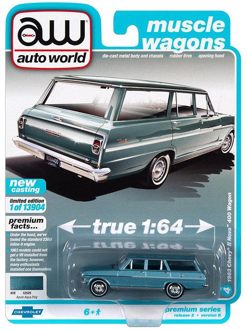 Auto World Muscle Wagons 1963 Chevy II Nova 400 Wagon