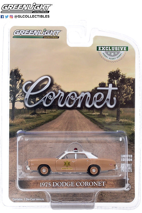 Greenlight Hobby Exclusive 1975 Dodge Coronet Choctaw County Sheriff
