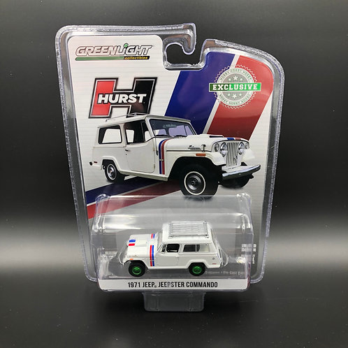 Greenlight Hobby Exclusive 1971 Jeep Jeepster Commando 4x4 Green Machine