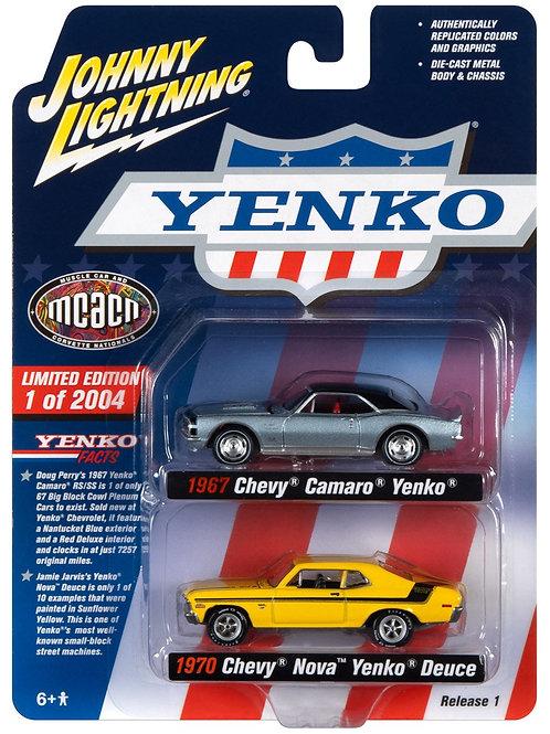 Johnny Lightning Two Pack Chevy Yenko Camaro & Nova
