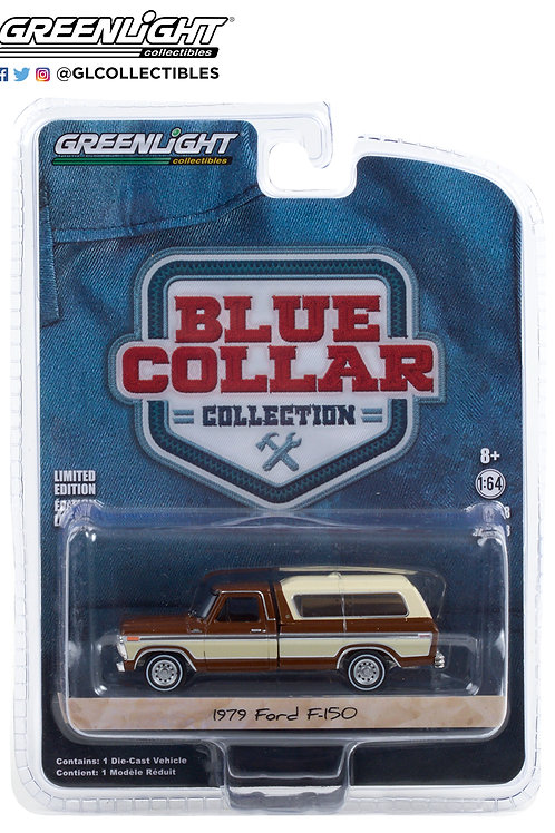 Greenlight Blue Collar 8 1979 Ford F-150 Pick Up with Camper Shell