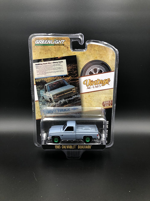 Greenlight Vintage Ads 3 1985 Chevy Silverado Pick Up Truck Green Machine