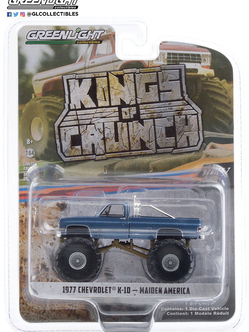 Greenlight Kings of Crunch 7 1977 Chevy K 10 Maiden America