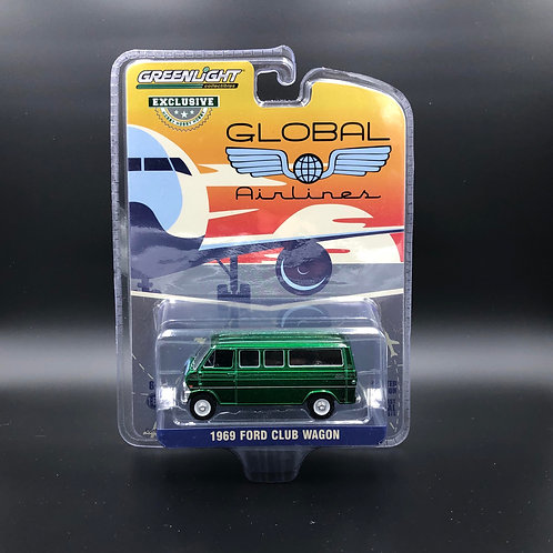 Greenlight Hobby Exclusive 1969 Ford Club Wagon Green Machine