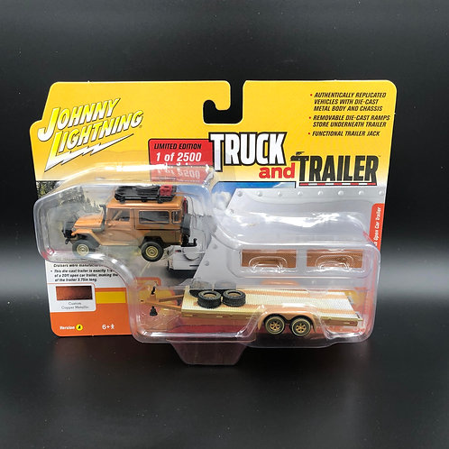 Johnny Lightning Truck and Trailer 1980 Toyota Land Cruiser with Trailer