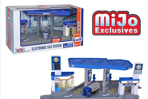Motormax MiJo Exclusive Gulf Gas Station Diorama Lights & Sounds