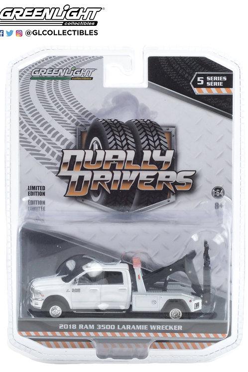 Greenlight Dually Drivers 5 2018 Dodge Ram  3500 Wrecker Tow Truck