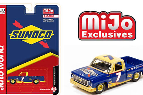 Auto World MiJo 1973 Chevy Cheyenne Pick Up Sunoco Racing