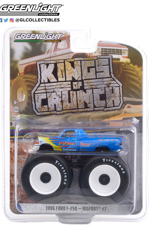 Greenlight Kings of Crunch 9 1996 Ford F250 Bigfoot at Race Rock