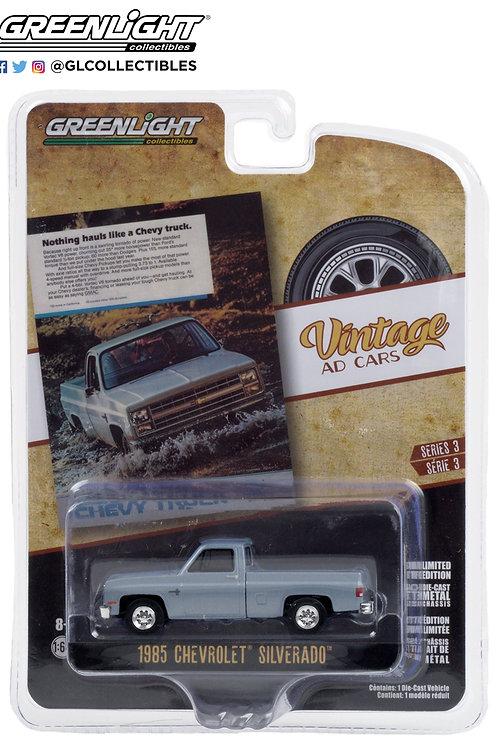 Greenlight Vintage Ads 3 1985 Chevy Silverado Pick Up Truck