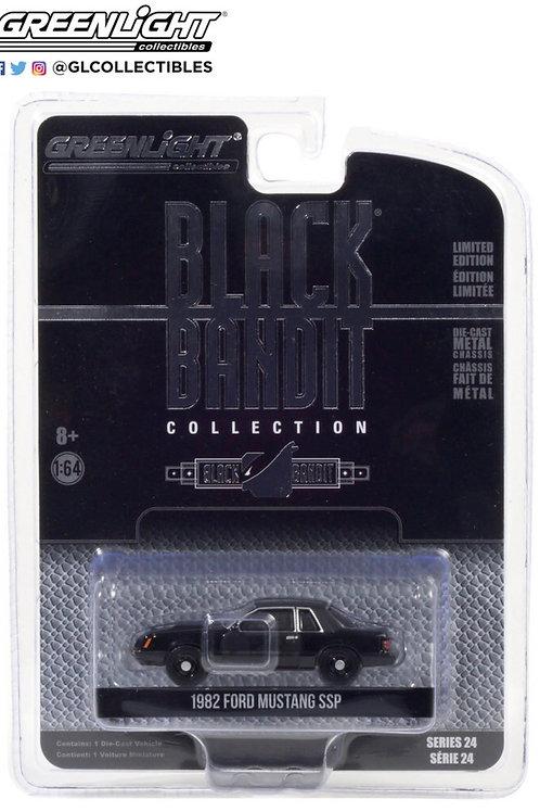 Greenlight Black Bandit 24 1982 Ford Mustang SSP