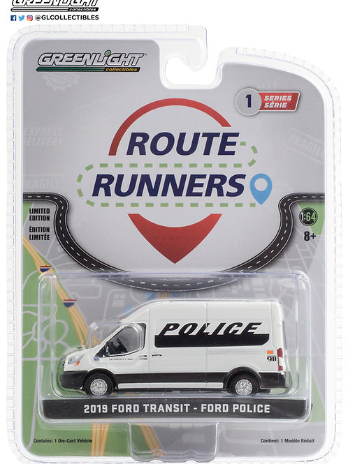 Greenlight Route Runners 1 2019 Ford Transit Police Transit