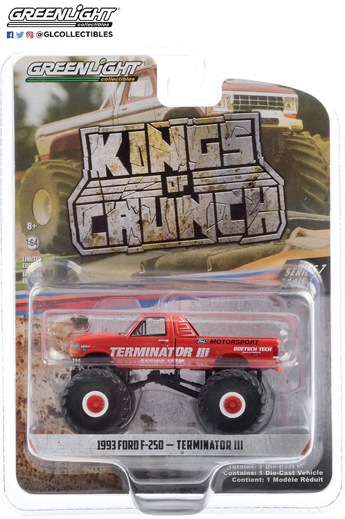 Greenlight Kings of Crunch 7 1993 Ford F250 Terminator III