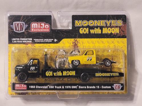 M2 MiJo Exclusive 1968 Chevy C60 Hauler 1976 GMC Sierra Bedless Mooneyes