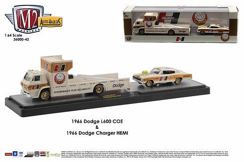 M2 Auto Hauler 42 1966 Dodge L600 COE & 1966 Dodge Charger