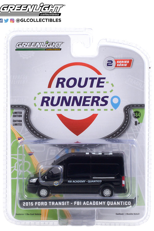 Greenlight Route Runners 2 2015 Ford Transit FBI Academy