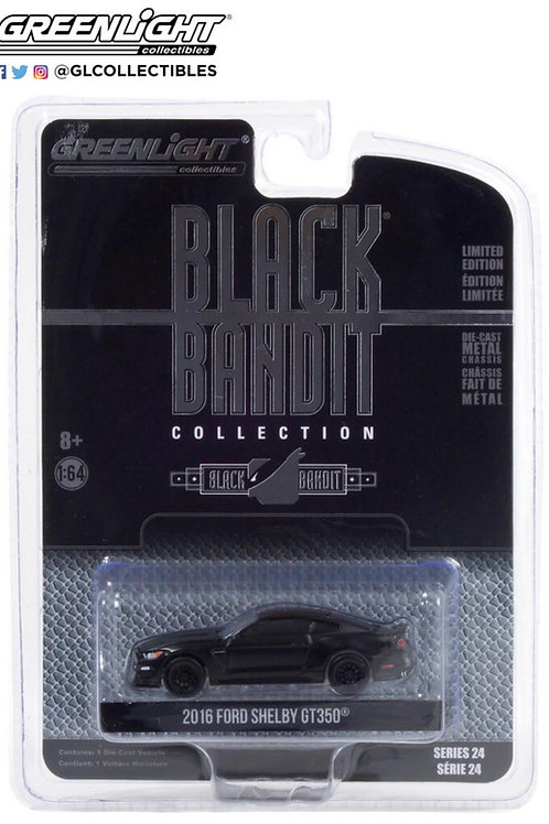 Greenlight Black Bandit 24 2016 Ford Shelby GT350