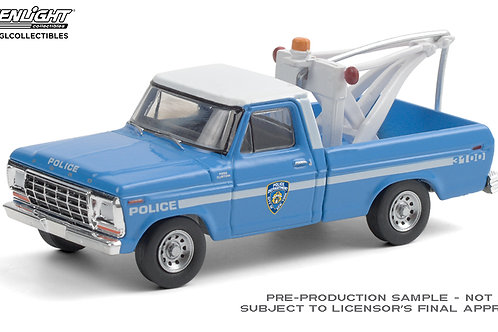 Greenlight Hobby Exclusive NYPD 1979 Ford F250 Tow Truck
