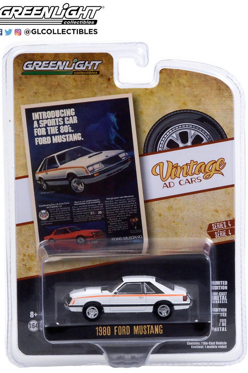 Greenlight Vintage Ad's 4 1980 Ford Mustang