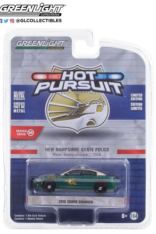 Greenlight Hot Pursuit 36 2018 Dodge Charger New Hampshire State