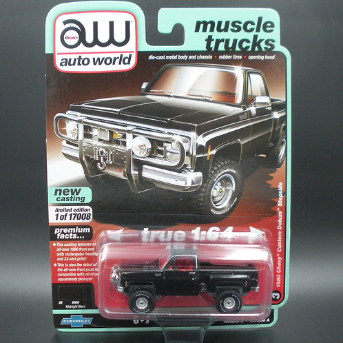 Auto World Muscle Trucks 1980 Chevy Custom Deluxe Stepside 4x4
