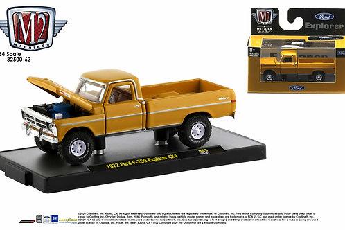 M2 Auto Trucks 63 1972 Ford F250 4x4 Explorer Pick Up Truck