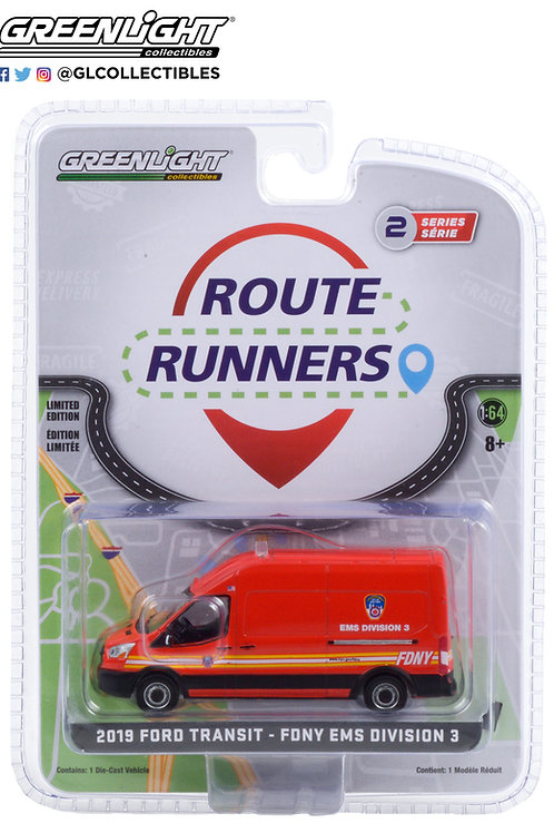 Greenlight Route Runners 2 2019 Ford Transit New York Fire