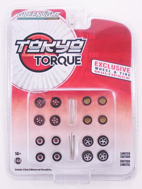 Greenlight Exclusive Tokyo Torque Wheel & Tire Set