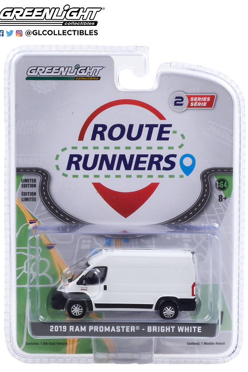 Greenlight Route Runners 2 2019 Dodge Ram Promaster 2500 Cargo