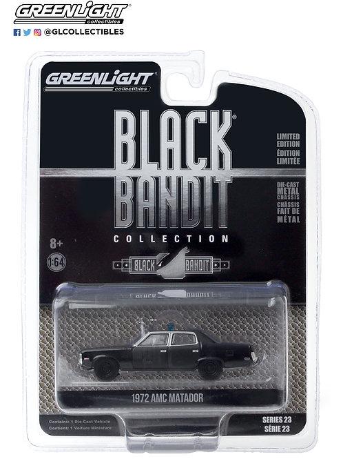 Greenlight Black Bandit 23 1972 AMC Matador Police Car