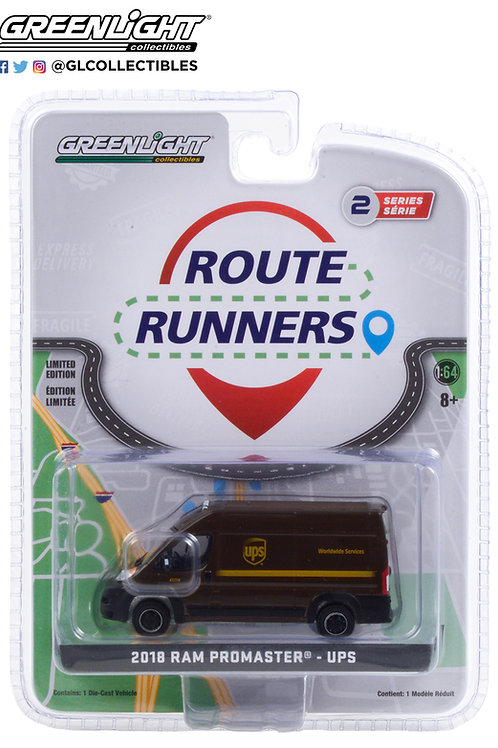 Greenlight Route Runners 2 2018 Dodge Ram Promaster 2500 UPS