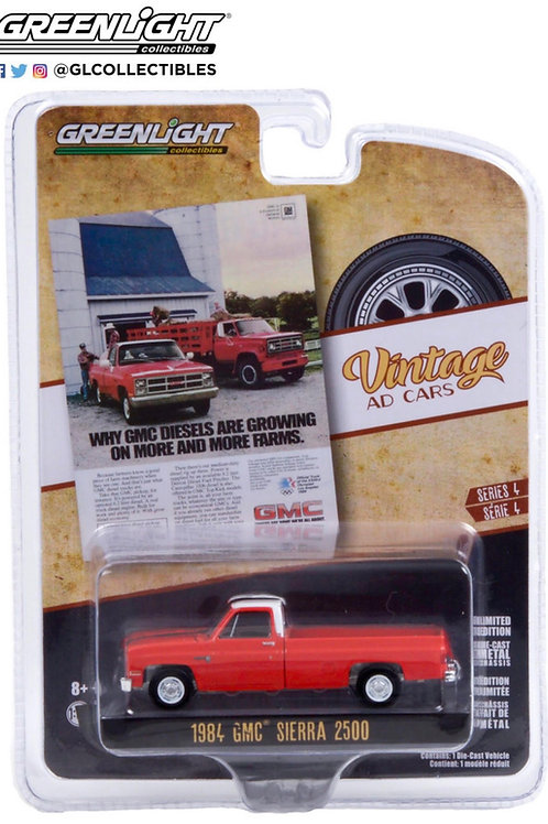 Greenlight Vintage Ad's 4 1984 GMC Sierra 2500 Pick Up Truck