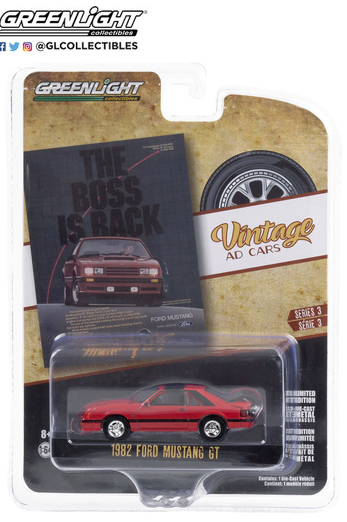 Greenlight Vintage Ad's 3 1982 Ford Mustang GT