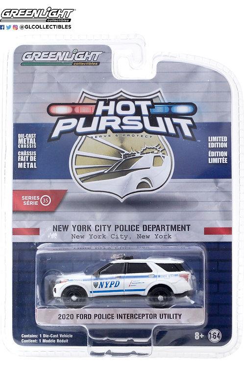 Greenlight Hot Pursuit 35 2020 Ford Explorer Police Interceptor Utility
