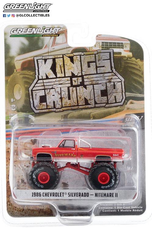 Greenlight Kings of Crunch 7 1986 Chevy Silverado Nitemare II