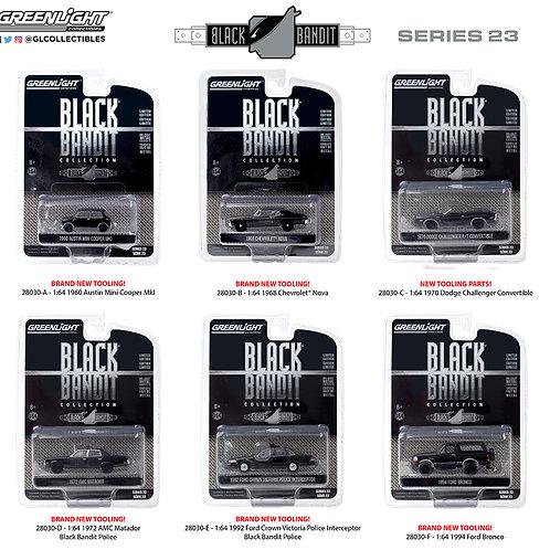 Greenlight Black Bandit 23 Sealed Inner Complete Set