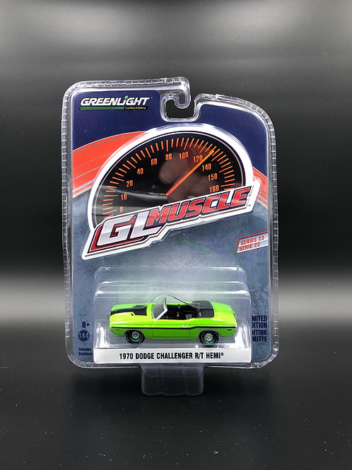 Greenlight GLMuscle 23 1970 Dodge Challenger R/T HEMI Green Machine