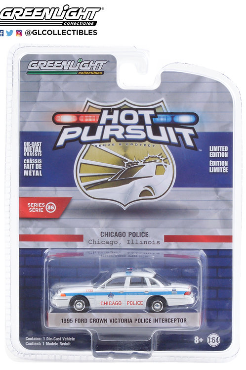 Greenlight Hot Pursuit 36 1995 Ford Crown Vic  Chicago Police Interceptor
