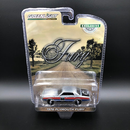 Greenlight Hobby Exclusive 1976 Plymouth Fury Raw Green Machine