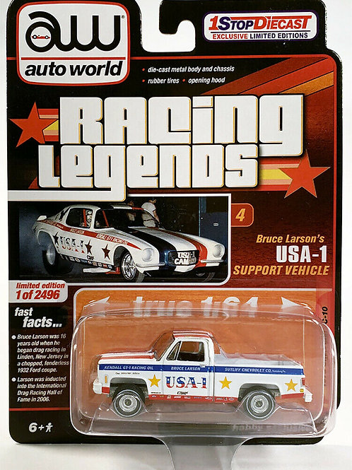 Auto World 1 Stop Diecast Exclusive 1973 Chevy C10 Pick Up Truck USA1