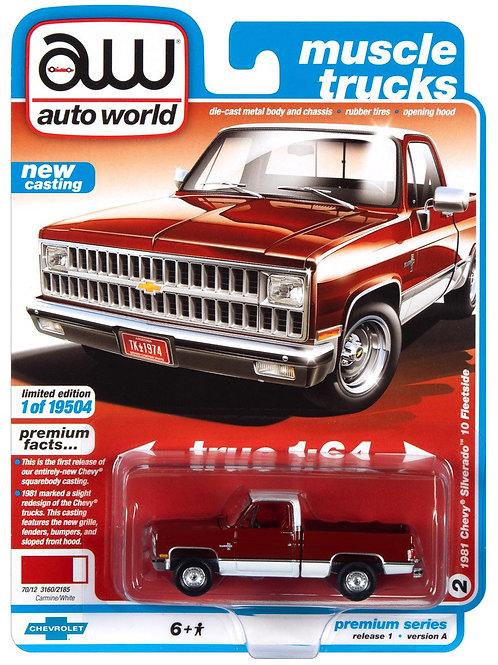 Auto World Muscle Trucks 1981 Chevy Silverado C10 Pick Up