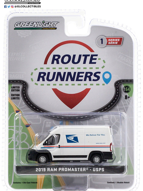 Greenlight Route Runners 1 2019 Dodge Ram ProMaster 2500 USPS